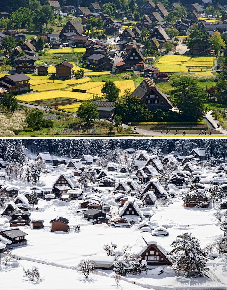 4. Историческое село Сиракава-го, Япония.