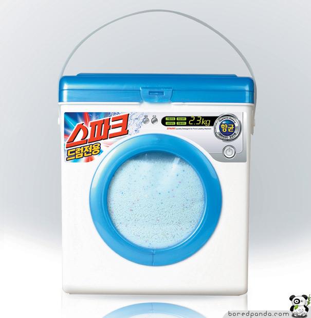 24. Упаковка стирального порошка.