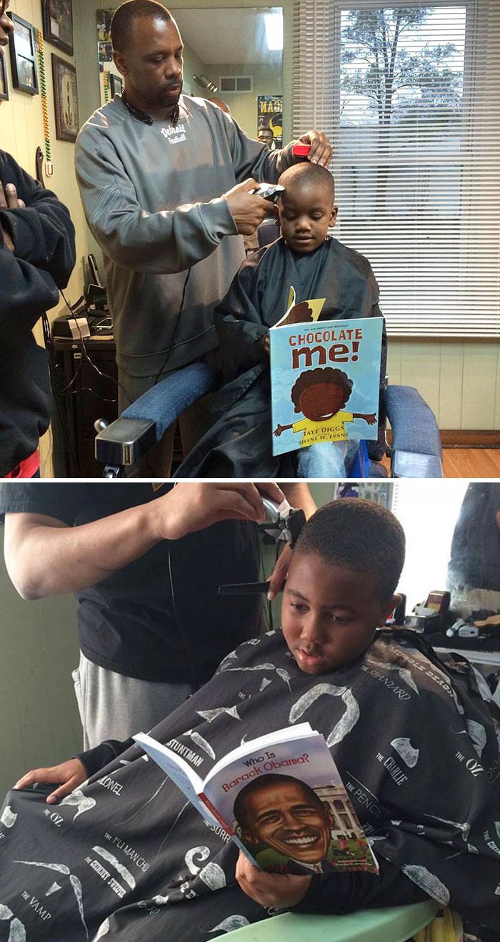 11. В этой парикмахерской детей стригут бесплатно, при условии, что они читают вслух.
