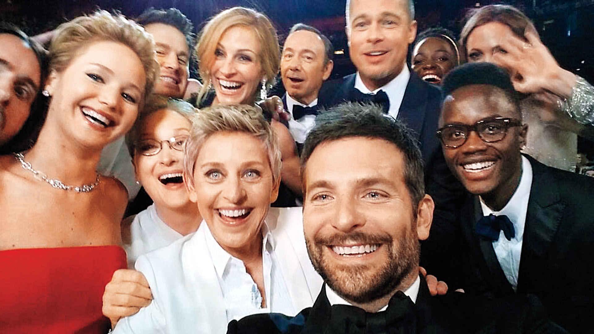 5. Оскар селфи, Бредли Купер, 2014.