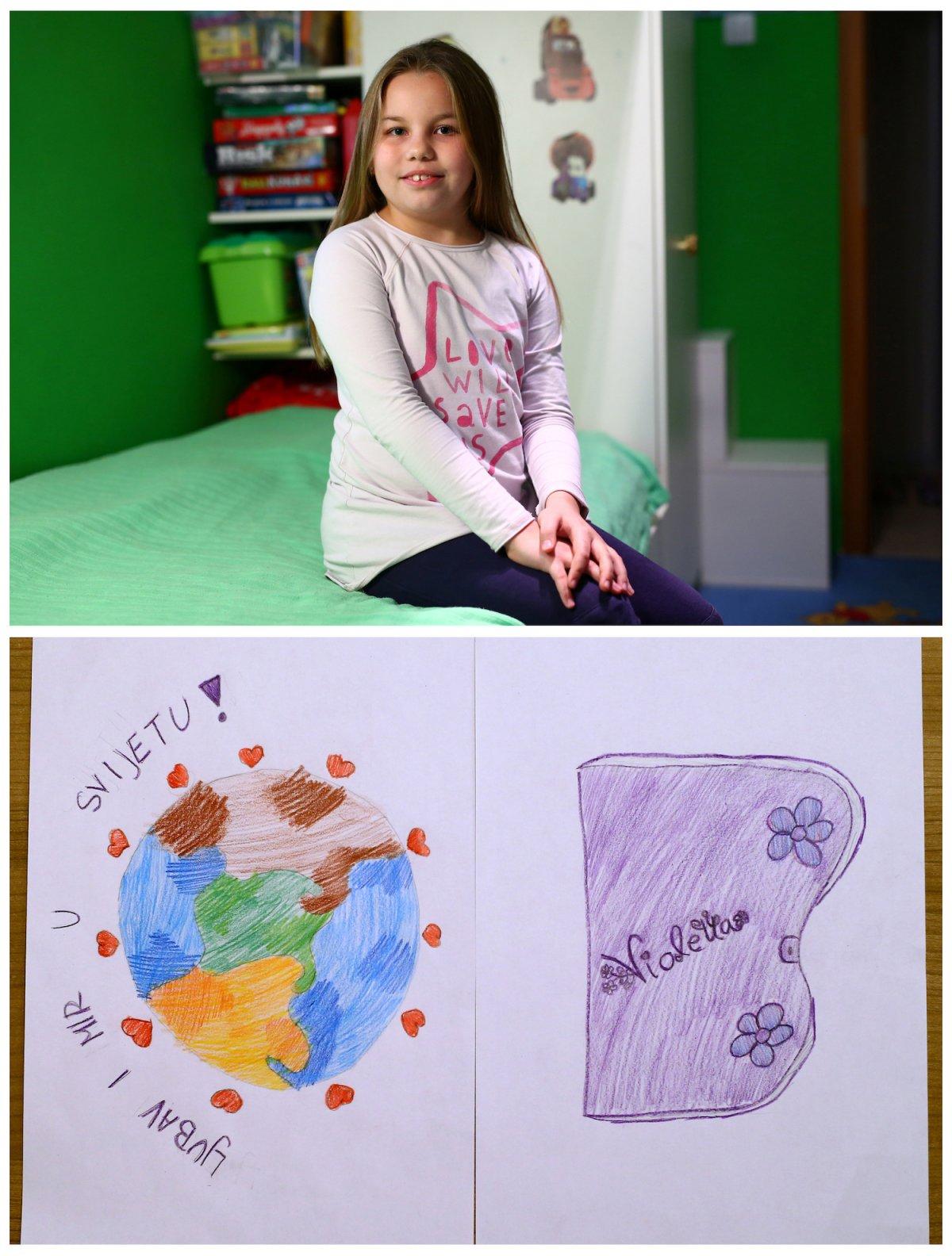 14. Восьмилетняя Дора из Хорватии мечтает о любви и мире во всем мире. А еще она хотела бы получить дневник.