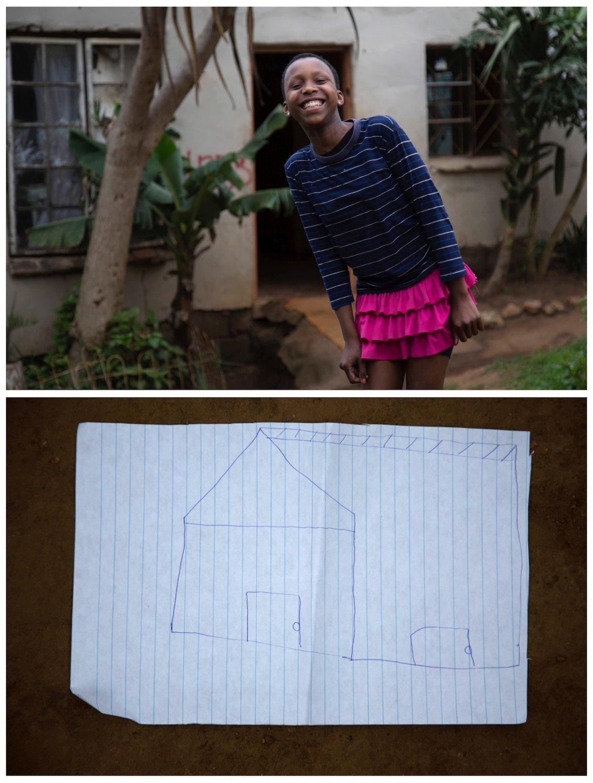 15. Ханио из Южной Африки 13 лет и она мечтает о новом доме.