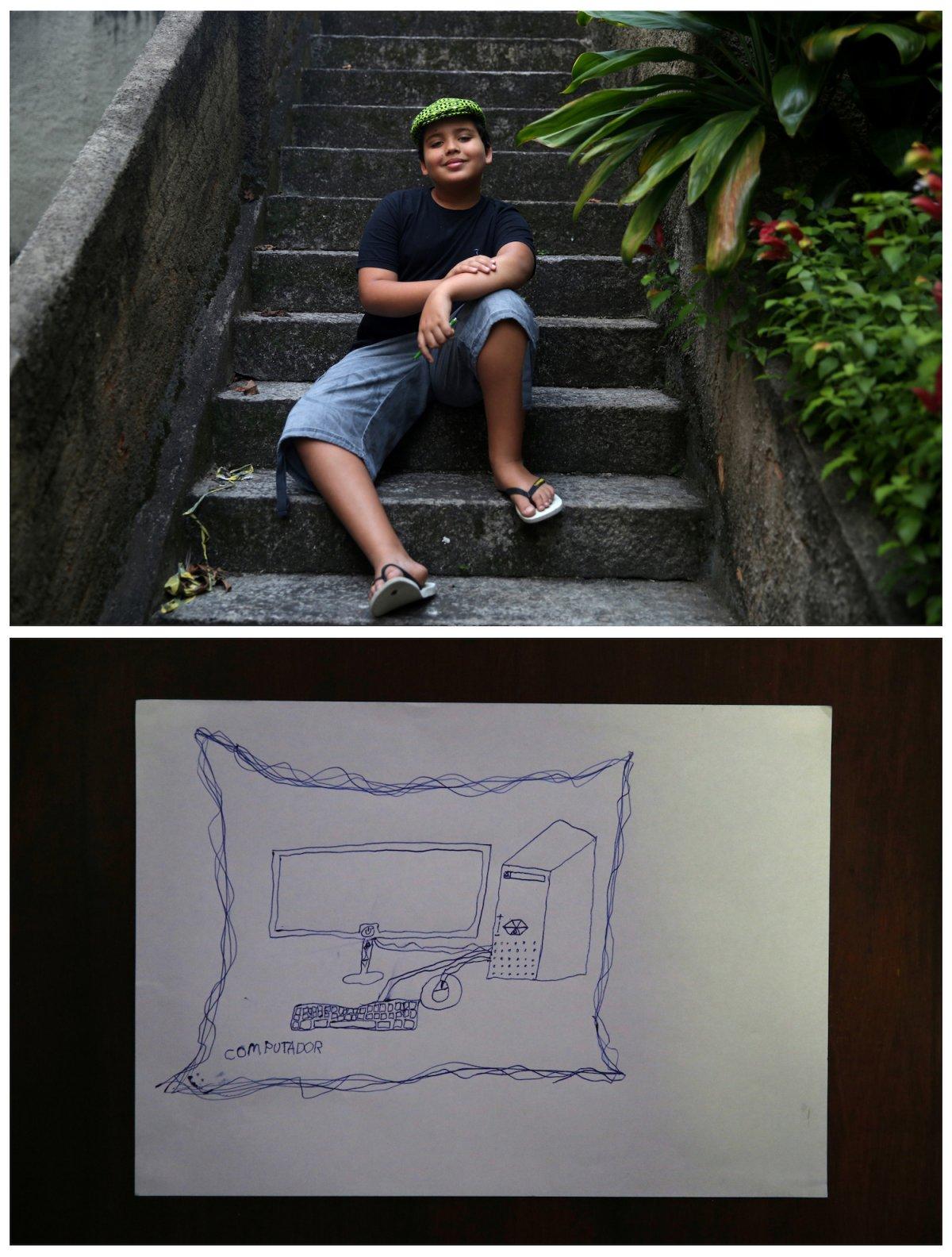 4. 10-летний Том из Рио-де-Жанейро мечтает о компьютере.