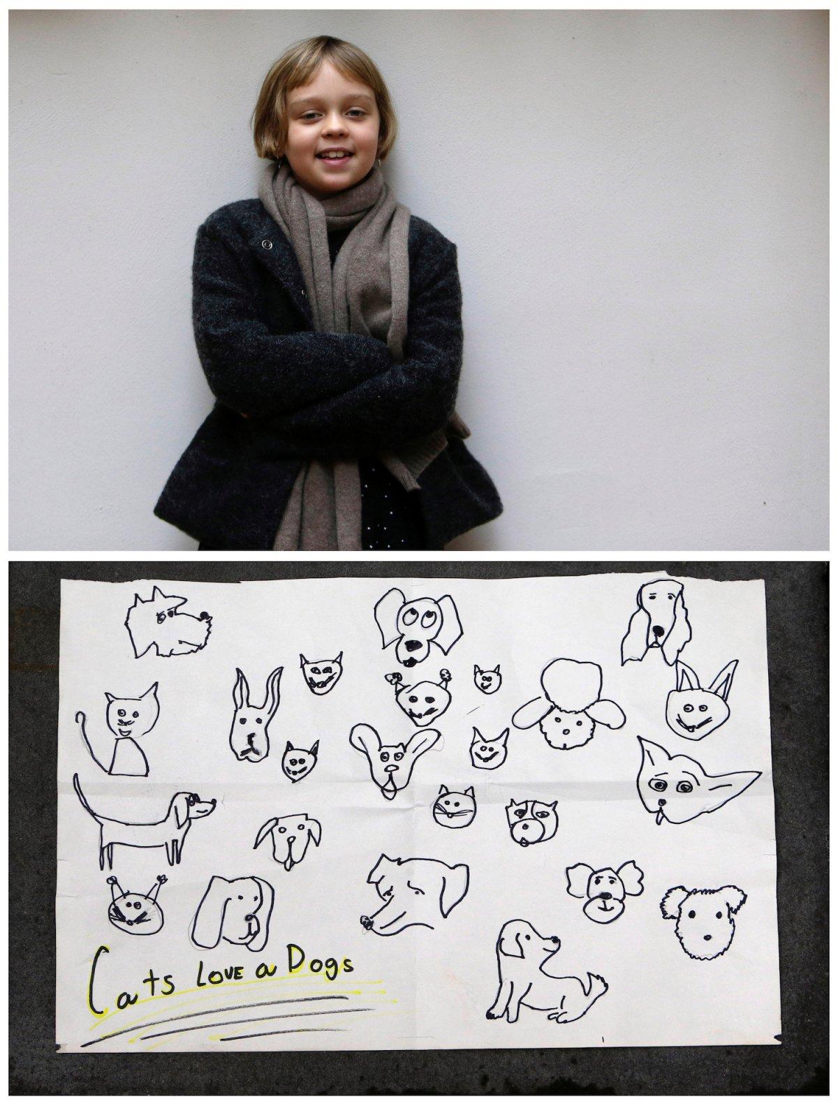 9. Восьмилетний Зофи из Праги мечтает, чтобы все кошки и собаки жили дружно.