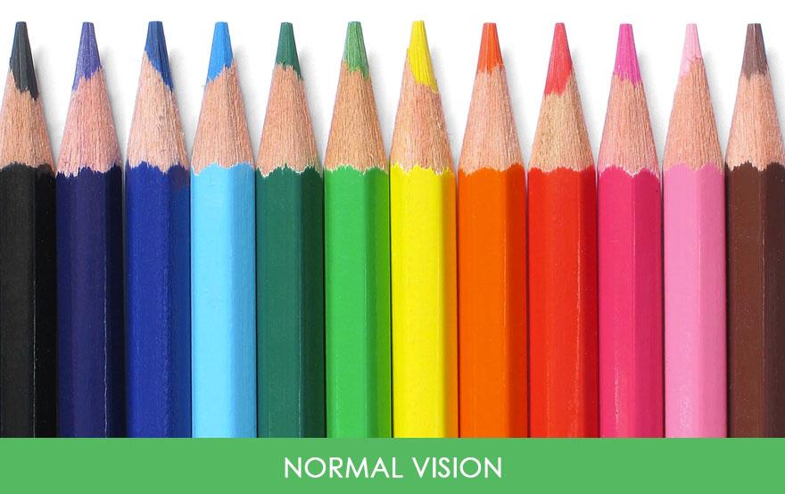 1. Вот так человек видит с нормальным зрением.