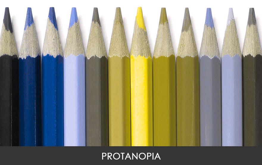 3. У страдающих протанопией не различают оттенки красного и зеленого.