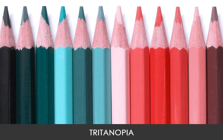 4. Люди с тританопией видят мир в зеленоватых и розовых тонах. Это очень редкая форма цветовой слепоты, которая выявляется у 0,0001% людей.