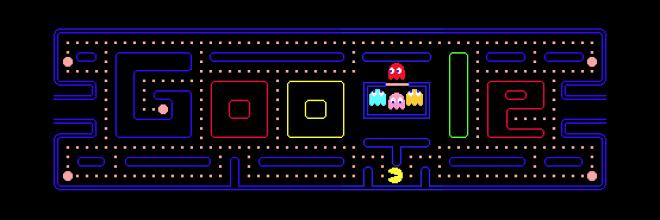 8. В честь 30 – летия игры Pacman, Google сделал пасхалку, позволяя вам играть в игру с помощью поискового запроса «Pacman».