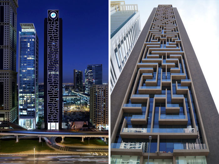 12. Башня «Лабиринт», Дубай, ОАЭ.