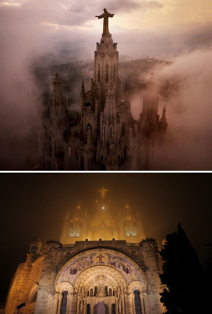 16. Собор Святого Сердца, гора Тибидабо, Барселона, Испания.