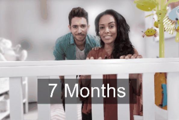 8. В 7 месяцев цвета становятся более яркими.