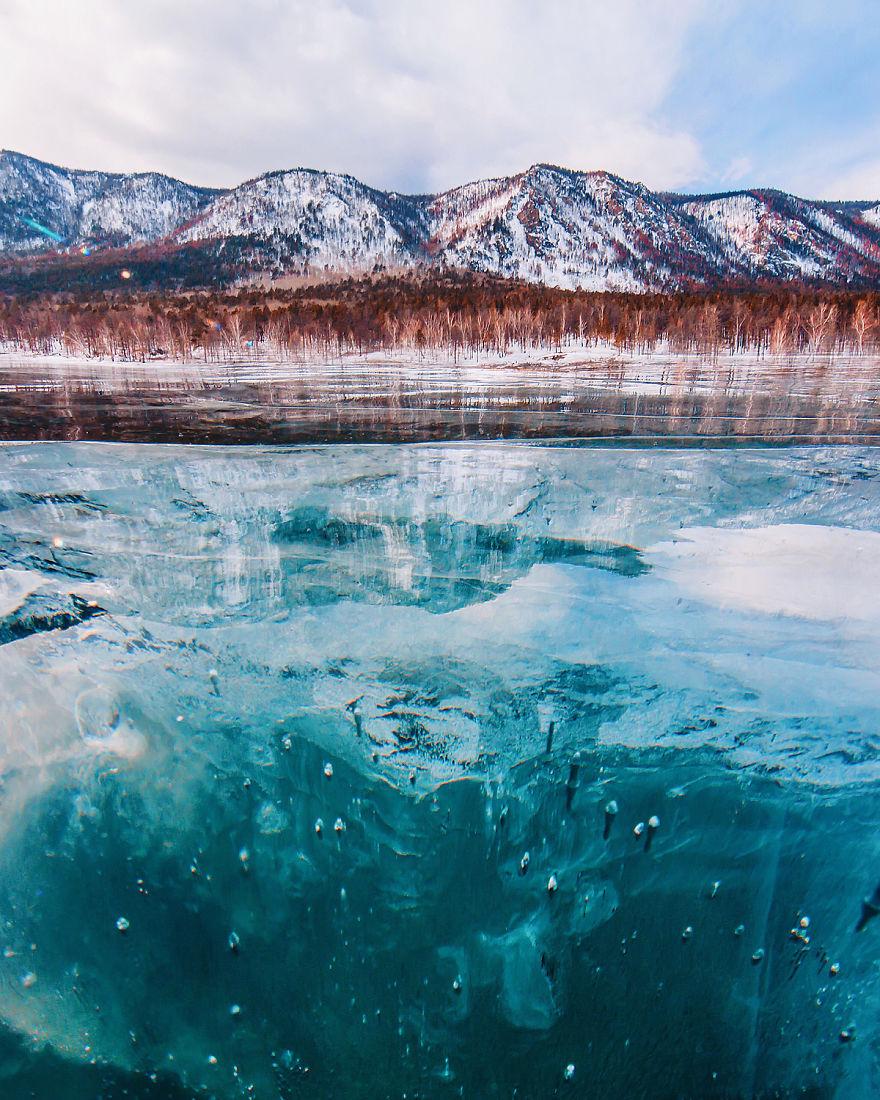 9. Это происходит потому, что вода замерзает слой за слоем.