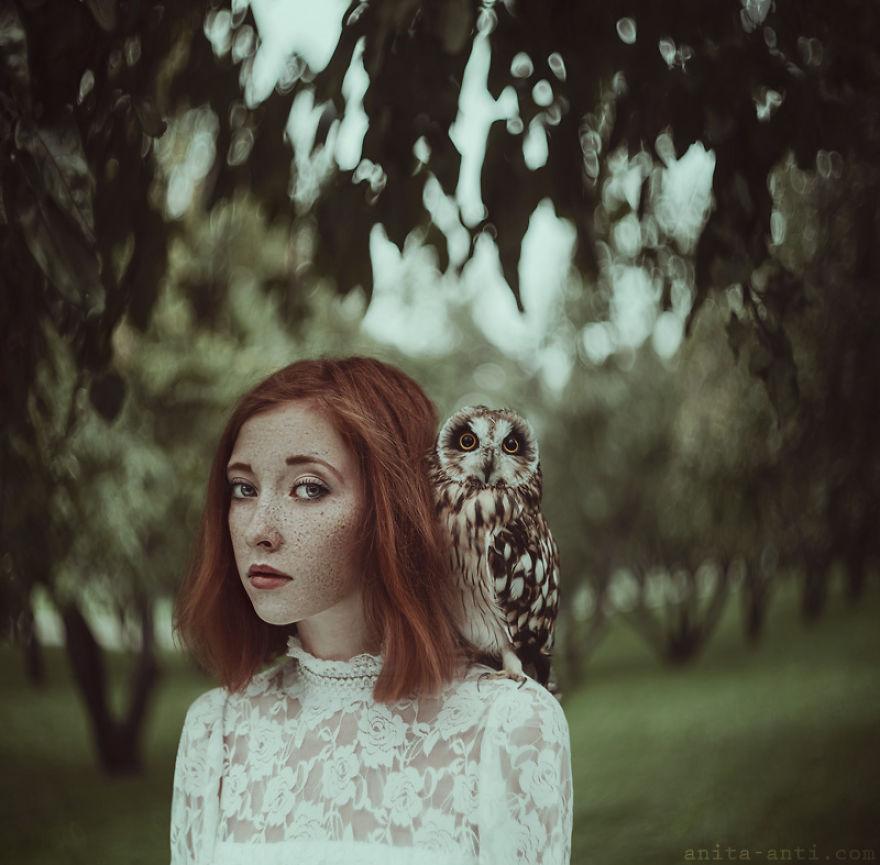 3. Сова. Некоторые из ее фотографий, кажется, основаны на конкретных историях.