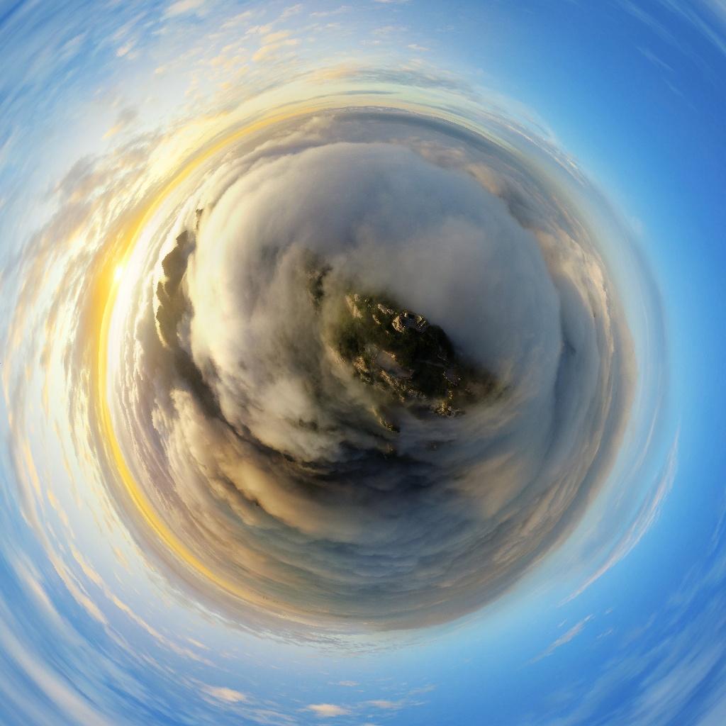 19. Второй приз в любительской категории «Фото 360» - «Море облаков над Лаоджуншаном».