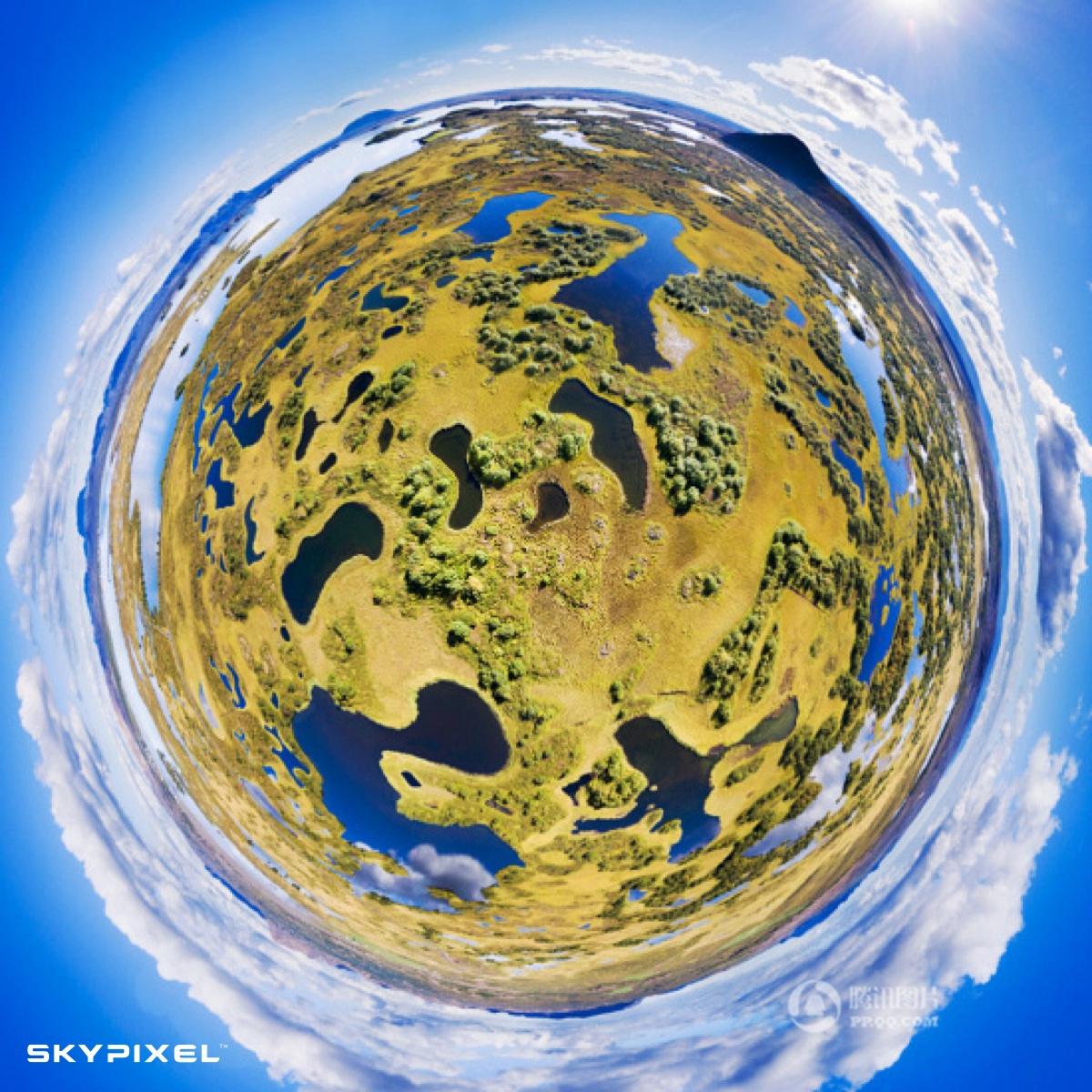 9. Второй приз в профессиональной категории «Фото 360» - «Спрятанные озера».