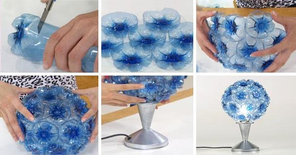 9. Можете повторить их, а можете развить фантазию и придумать что-то свое.  Например, как эта лампа в виде букета.