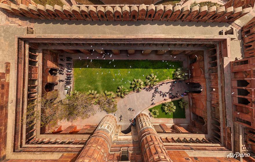6. Агра Форт, Индия.