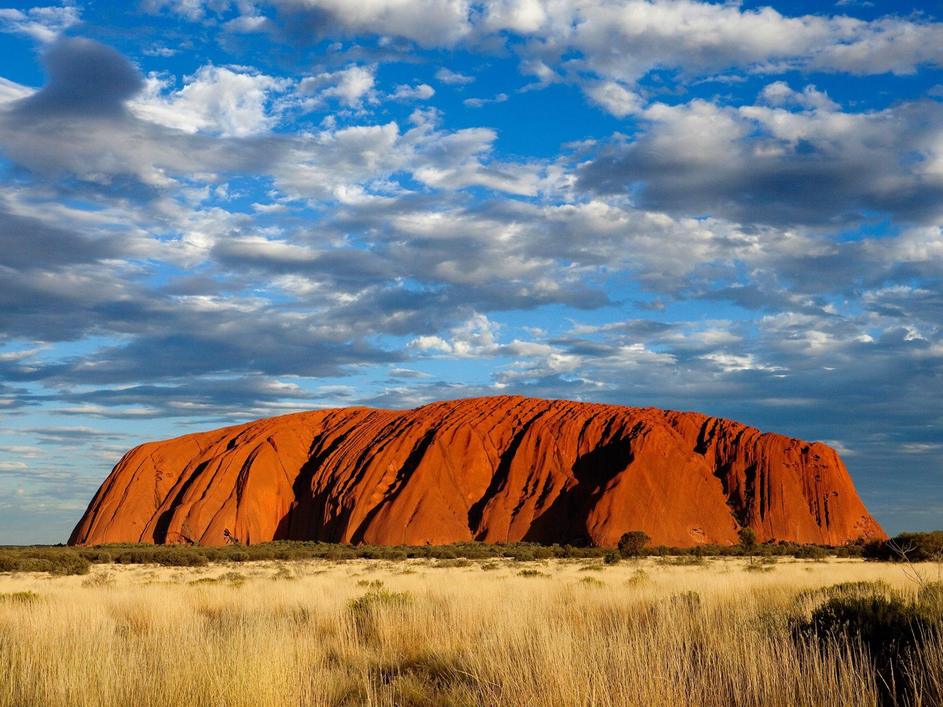 природа поле Улуру австралия скалы  № 586616  скачать
